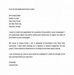 15 application cover letter templates samples examples With how to write a formal email for job application