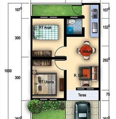 rumah minimalis type denah rumah type  cat rumah minimalis