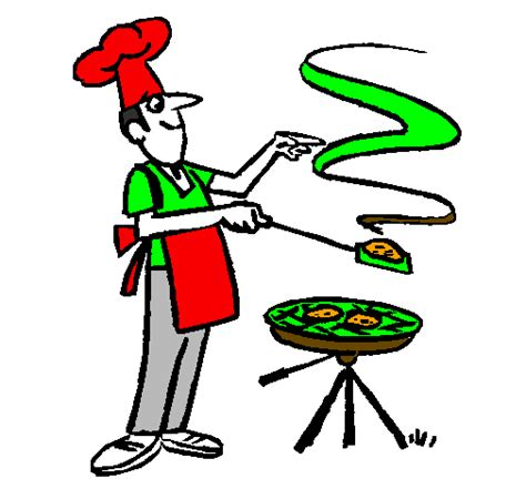 femme chef cuisine dessin de barbecue colorie par membre non inscrit le 13 de