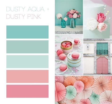 Color Schemes Aqua by Great Color Scheme Dusty Aqua Minty And Pink Colors
