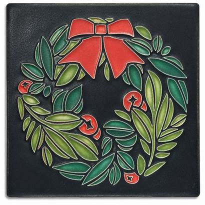 Motawi Wreath Tile Tileworks Handmade Ann