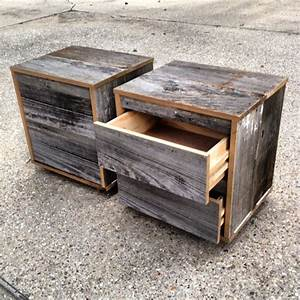 reclaimed wood bedside table grey With barnwood bedside table