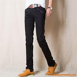 Jean Slim Noir Homme : jean homme noir vogue skinny pas cher tendance simple slim ~ Voncanada.com Idées de Décoration