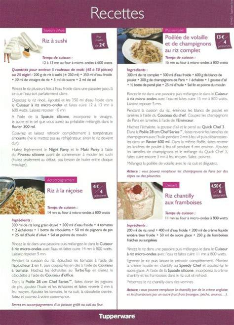 recettes cuisine pdf recette tupperware cuisine tupperware