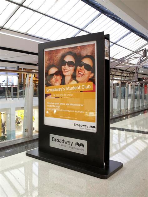 shop  mall ps poster stand