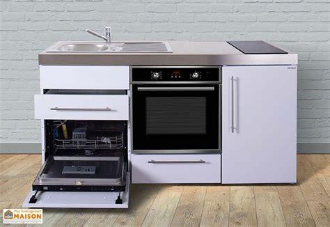 meuble cuisine frigo mini cuisine avec frigo l v four et induction mpbgs 170