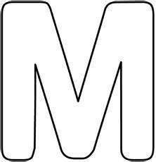 1 din a4 seite, hochkant, in farbe. Blanko-Buchstaben-Buchstabenschablonen - Deko-Buchstaben ...