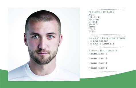 comp card templates  actor model headshots