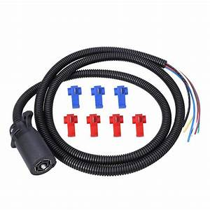 Durable 2m 7 Way Connector Plug Socket 7 Wire Trailer