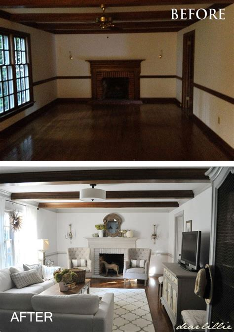 Decorating Ideas To Lighten A Room by Before And After Great Living Room Renovation Ideas Hative