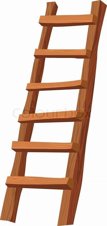 Ladder Escalera Clipart Ladders Wooden Houten Madera