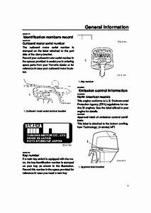 2007 Yamaha Outboard F50 T50 F60 T60 Boat Motor Owners Manual