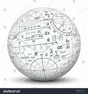 Mathematical Vector Formulary Imprints On A White Sphere  Math  Education  Ball
