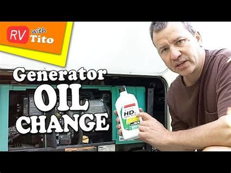 How To Change The Oil In Your Onan RV Generator   YouTube
