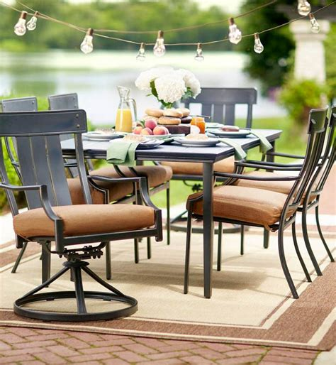 patio furniture 7 dining set hton bay oak heights 7 patio dining set with