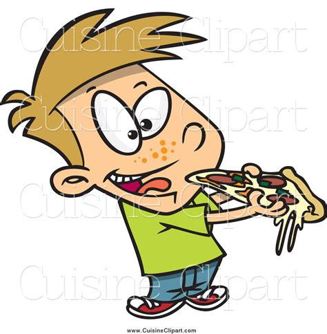 cuisine clipart cuisine clipart of a boy cheesy pizza by toonaday 14457