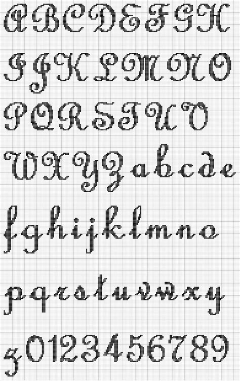 cross stitch alphabet pattern  avas wall