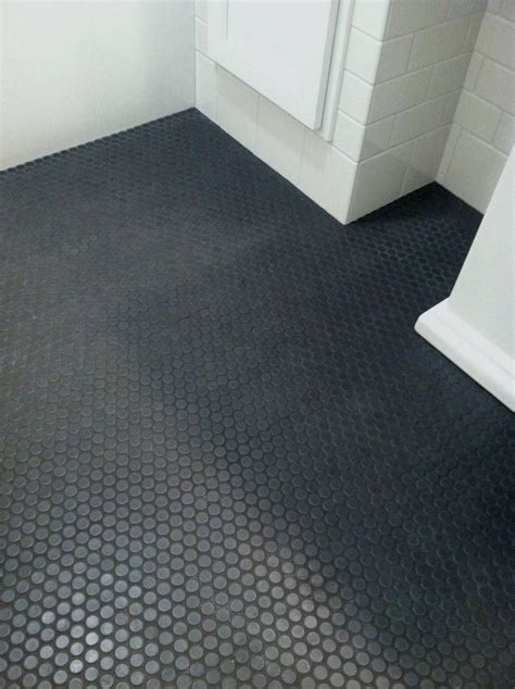 black penny tile  gray grout google search shower