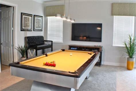 pool table in living room modern pool table in loft modern living room orlando