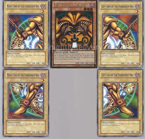 exodia otk ftk deck exodia the forbidden one table 40 cards yugioh ebay