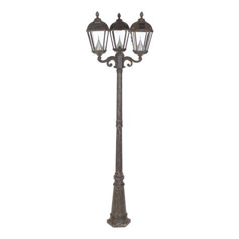 gama sonic royal triple light solar lamp post walmartcom