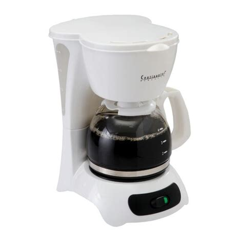 It's programmable for added convenience. Continental Electrics 4-Cup Coffee Maker with Pause 'N Serve - Walmart.com - Walmart.com