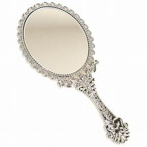 Decorative Vintage Style Oval Round Vanity Make up Hand ...