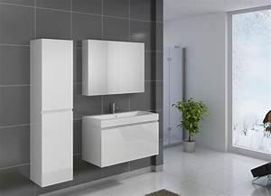 Badezimmermöbel Weiß Hochglanz : sam badezimmerm bel parma 3tlg wei hochglanz 100 cm auf lager ~ Frokenaadalensverden.com Haus und Dekorationen