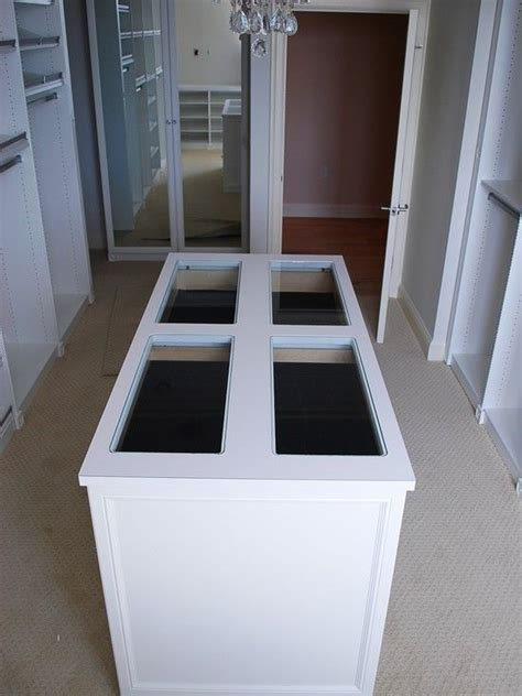 jewelry island for closet closet island this island has jewelry drawers at the top