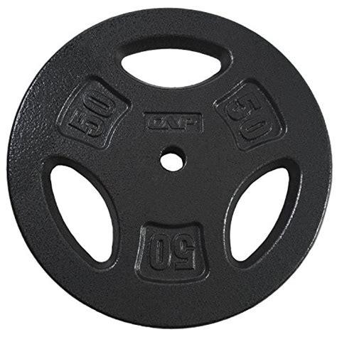 cap barbell standard grip plate black  lb import