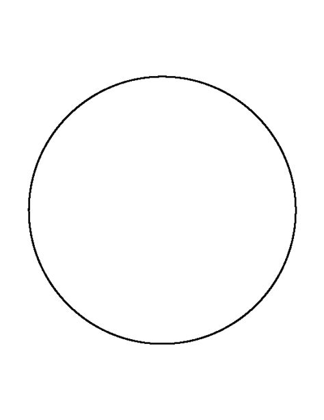 Circle Template 7 Inch Circle Pattern Use The Printable Outline For