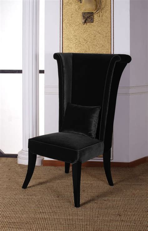 armen living mad hatter dining chair black al lc847sibl