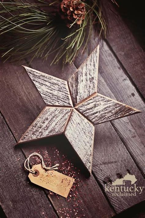 white wooden christmas star tree topper decoration