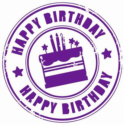 Birthday Stamp Happy Clipart Transparent Background Circle