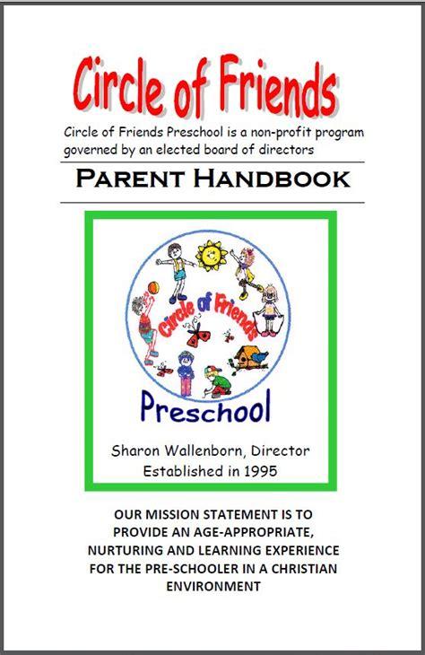 circle of friends preschool parent handbook 649 | HandbookCover2013