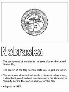 Gallery Nebraska Flag Coloring Page Coloring Page For Kids