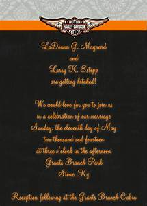 harley davidson themed wedding invitation in 5x7 if you With harley davidson wedding invitations free