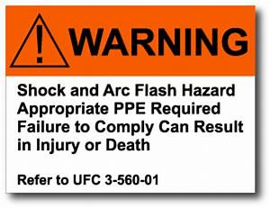 375quot x 5quot arc flash warning label With arc flash warning stickers