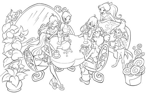 Winx Club Coloring Pages Sanfranciscolife