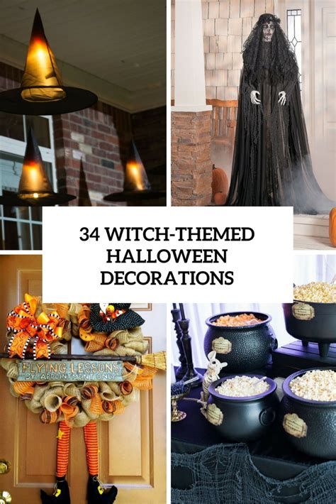 34 Witchthemed Halloween Decorations To Create An