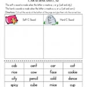 c and soft c worksheet teaching