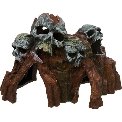 Petco Fish Aquarium Decorations by Blue Ribbon Skull Mountain Medium Aquarium Ornament Petco