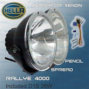 Hella Rallye 4000 12v Volt Luminator Xenon Hid 1387 Pencil Beam  Flood Pai