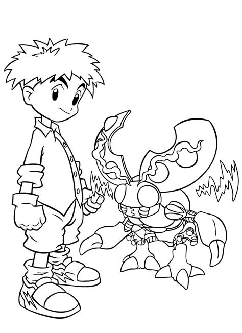 Printable Coloring Pages by Free Printable Digimon Coloring Pages For