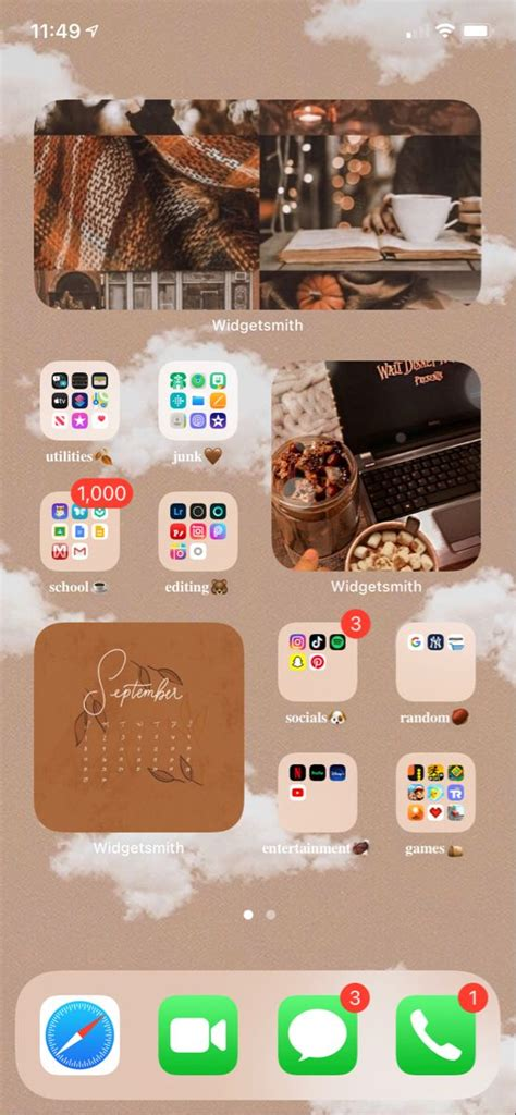 ios14 home screen ideas homescreen iphone iphone