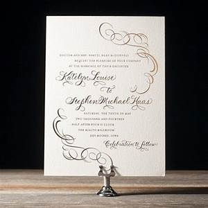 ornate flourish calligraphy wedding invitations by bella With copperplate calligraphy wedding invitations