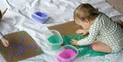 Babytoddler Colored Rice Art