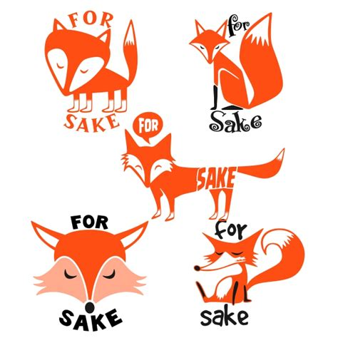 Some of them are transparent (.png). Fox For Sake Cuttable Design