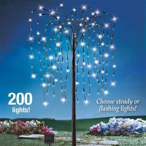 outdoor lighted tree ornaments yard lighted tree 4ft decoration outdoor solar willow