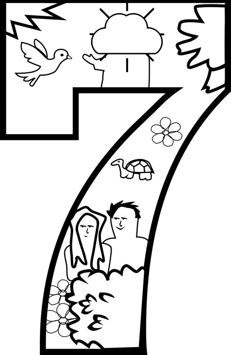 clipart creation day  coloring page